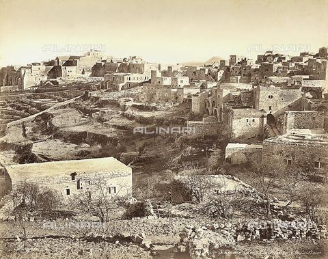 FCC-F-014386-0000 - Veduta panoramica di Betlemme, in Israele - Data dello scatto: 1870 ca. - Raccolte Museali Fratelli Alinari (RMFA)-collezione Favrod, Firenze