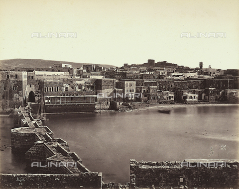 FCC-F-014448-0000 - Panoramic view of a city in Isreal - Date of photography: 1865 ca. - Fratelli Alinari Museum Collections-Favrod Collection, Florence