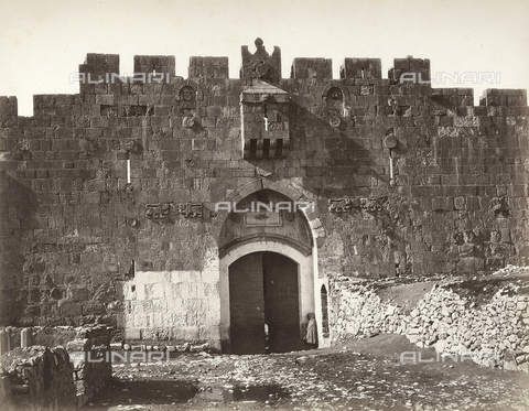 FCC-F-014484-0000 - The Saint Stephen Gate in Jerusalem - Date of photography: 1865 ca. - Fratelli Alinari Museum Collections-Favrod Collection, Florence