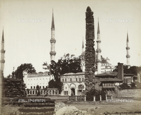 FCC-F-014823-0000 - Mosque of Amedieh and Obelisk in Constantinople - Date of photography: 1865 ca. - Fratelli Alinari Museum Collections-Favrod Collection, Florence