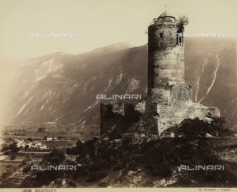 FCC-F-015077-0000 - View of Bâtiaz in Martigny, Switzerland - Data dello scatto: 1880 ca. - Archivi Alinari, Firenze