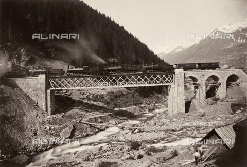 FCC-F-016097-0000 - Train over the Gotthard - Data dello scatto: 1870 ca. - Archivi Alinari, Firenze