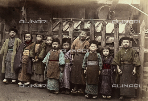 FCC-F-018212-0000 - Class of Japanese children posing for a photo.
