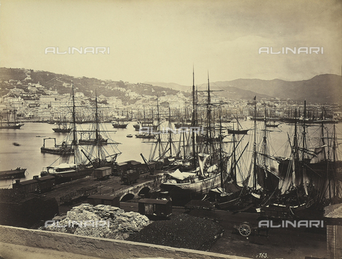 FCC-F-018373-0000 - Ships docked in the Port of Genoa - Data dello scatto: 1870-1880 ca. - Archivi Alinari, Firenze