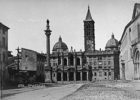 FCC-F-020937-0000 - Facciata della Basilica di Santa Maria Maggiore a Roma - Data dello scatto: 1861 - Raccolte Museali Fratelli Alinari (RMFA)-collezione Favrod, Firenze