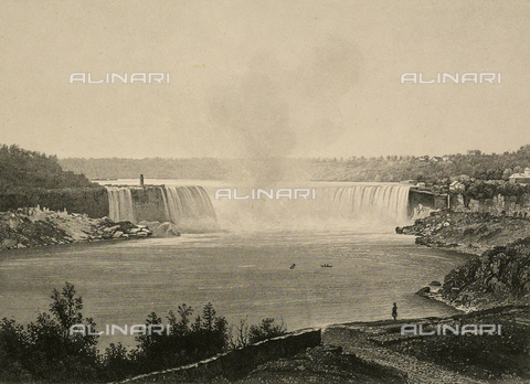FCC-F-022313-0000 - Veduta delle cascate del Niagara che si riversano nel Lago Toronto, in Canada, nell'America del Nord. - Data dello scatto: 1880-1900 ca. - Archivi Alinari, Firenze