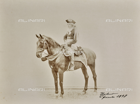 FCC-F-217666-0000 - The Count Ugolino della Gherardesca (1874-1957) on horseback - Data dello scatto: 1898 - Archivi Alinari, Firenze