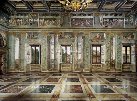 FCP-S-FAR000-0200 - Hall of the perspective Views, the south side, first floor, Villa la Farnesina, Rome - Data dello scatto: 2003 - Franco Cosimo Panini Editore © Management Fratelli Alinari