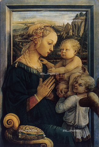 FDC-F-000006-0000 - Madonna and Child with angels, Galleria degli Uffizi, Florence