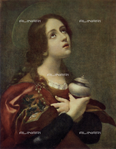 FDC-F-000008-0000 - The Magdalene; painting by Carlo Dolci, in the Uffizi Gallery in Florence