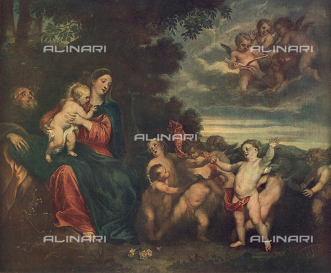 FDC-F-000027-0000 - Rest during the flight into Egypt; painting by Anthony van Dyck, Palatine Gallery, Pitti Palace, Florence