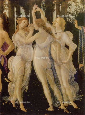 FDC-F-000032-0000 - The Three Graces, detail of the Primavera, Uffizi Gallery, Florence