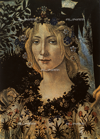 FDC-F-000089-0000 - Flora; detail from Botticelli's Primavera. Uffizi Gallery, Florence