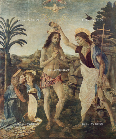 FDC-F-000151-0000 - The Baptism of Christ, Uffizi Gallery, Florence