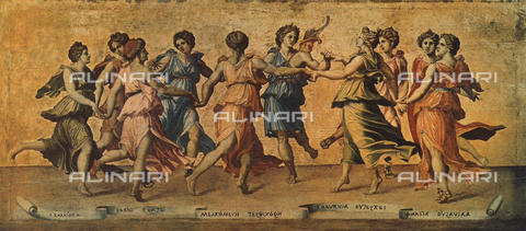 FDC-F-000170-0000 - Apollo and the Muses; painting by Giulio Romano, Palatine Gallery, Palazzo Pitti, Florence