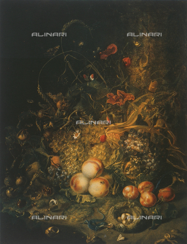 FDC-F-000175-0000 - Still life with flowers, fruit and insects; Palatine Gallery, Palazzo Pitti, Florence
