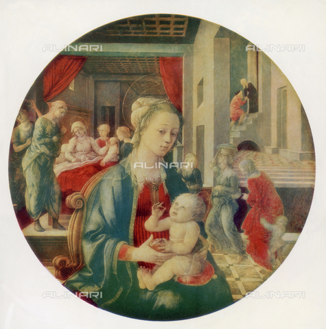 FDC-F-000179-0000 - Madonna and Child and scenes of the Life of the Virgin, Palatine Gallery, Palazzo Pitti, Florence