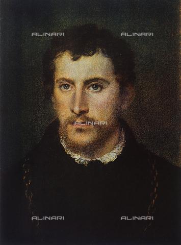 FDC-F-000185-0000 - Ritratto di gentiluomo,particolare del volto; Galleria Palatina, Palazzo Pitti, Firenze