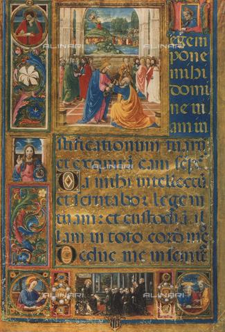 FDC-F-000199-0000 - Pagina di corale con raffigurante la Consegna delle chiavi a San Pietro; opera realizzata da Gherardo e Monte del Fora e conservata nel Museo di San Marco a Firenze