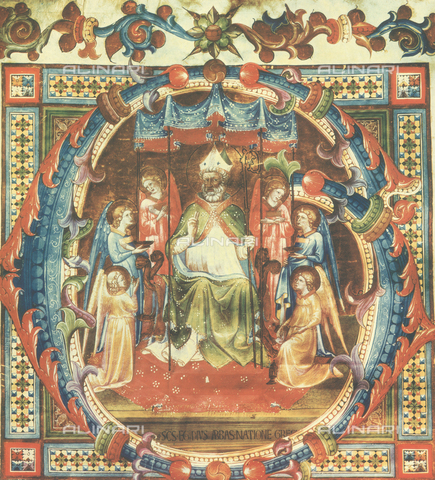 FDC-F-000204-0000 - Sant'Egidio; miniatura realizzata da Bartolomeo di Fruosino, e conservata nel Museo di San Marco a Firenze
