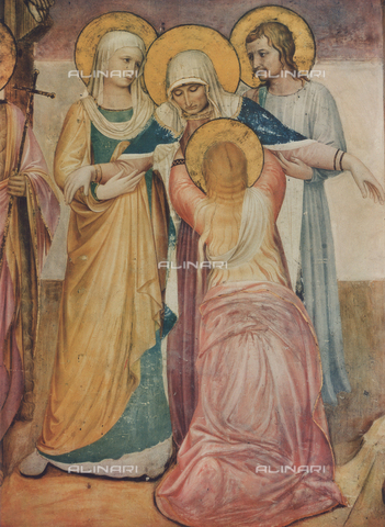 FDC-F-000237-0000 - The Virgin with the Marys, detail of the Crucifixion and Saints, sala del Capitolo, Museo di San Marco, Florence