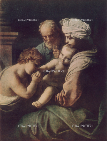 FDC-F-000259-0000 - Holy Family with Young St. John, Galleria Borghese, Rome.