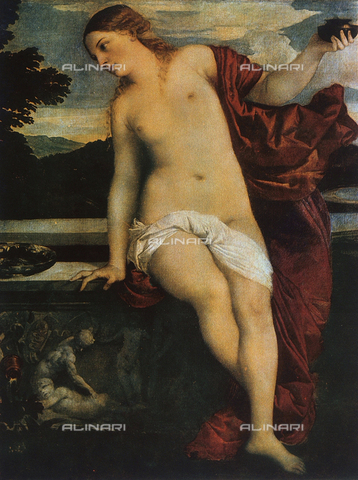 FDC-F-000267-0000 - Profane Love, detail of the painting of Sacred and Profane Love, by Titian, located in the Galleria Borghese in Rome