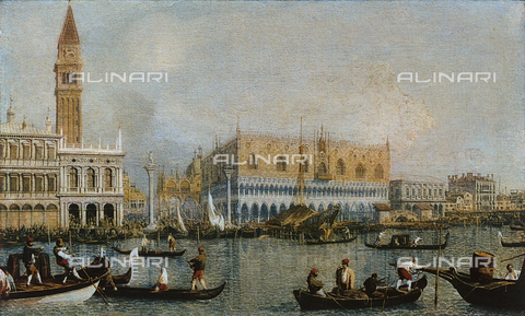 FDC-F-000437-0000 - View of the Doge's Palace; painting, Uffizi Gallery, Florence