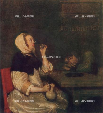 FDC-F-000534-0000 - Woman drinking, Uffizi Gallery, Florence