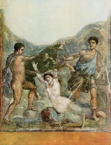FDC-F-000648-0000 - The punishment of Dirce; fresco, House of the Vettii, Pompeii Archaeological Site, Pompeii