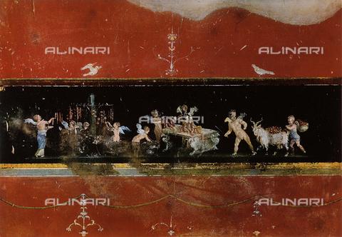 FDC-F-000654-0000 - Amorini fiorai, affresco, Casa dei Vettii, Pompei Scavi, Pompei