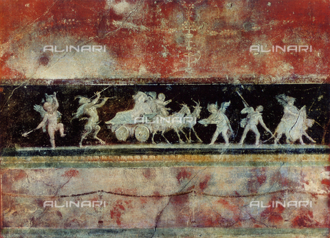 FDC-F-000657-0000 - Some cupids and a bacchanalia, fresco, House of Vettii, archaeological excavations, Pompeii