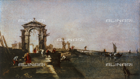 FDC-F-000664-0000 - Caprice with an arch and pier, Uffizi Gallery, Florence