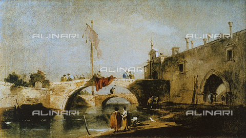 FDC-F-000665-0000 - Capriccio with bridges over a canal, Uffizi Gallery, Florence