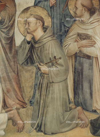 FDC-F-000697-0000 - Saints Francis and Dominic; detail of the Crucifixion and Saints, Sala del Capitolo, Museum of San Marco, Florence