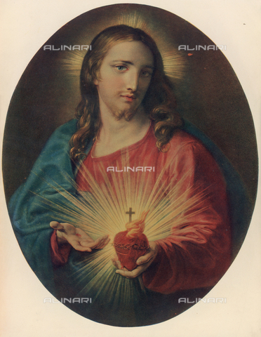 FDC-F-000749-0000 - The Sacred Heart; painting by Pompeo Batoni. Chiesa del Gesù or Church of Jesus, Rome