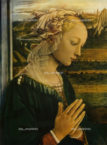 FDC-F-000767-0000 - The Virgin. Madonna in prayer. Painting by Filippo Lippi, Uffizi Gallery, Florence