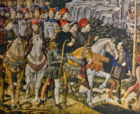 FDC-F-000855-0000 - Piero dei Medici and others; detail of the Procession of the Magi. Chapel of the Magi, Palazzo Medici Riccardi, Florence