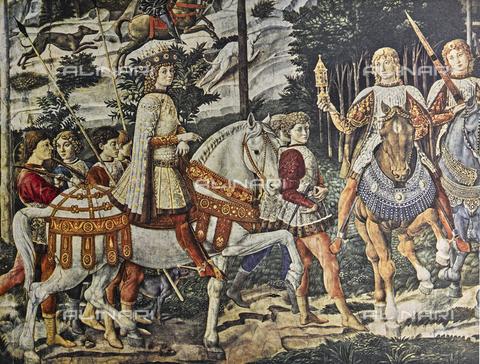 FDC-F-000856-0000 - Lorenzo il Magnifico; particolare della Cavalcata dei Magi, Cappella dei Magi, Palazzo Medici Riccardi, Firenze