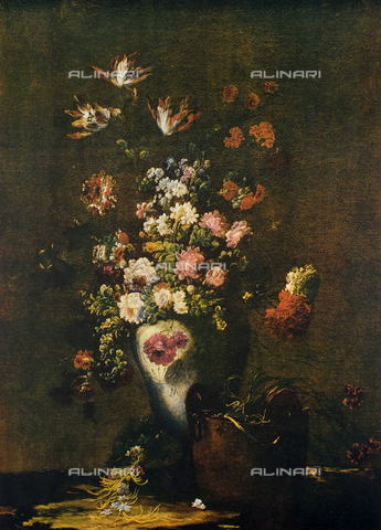 FDC-F-000867-0000 - Vase of Flowers, oil on canvas, unknown Flemish 18th cen., The Uffizi Gallery, Florence