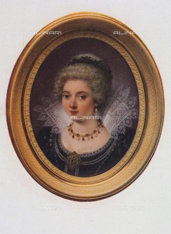 FDC-F-000902-0000 - Miniatura con il ritratto di Gabriella D'Estrées; opera di Salomon-Guillaume Counis, Galleria degli Uffizi, Firenze