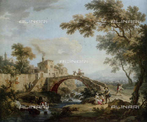 FDC-F-000918-0000 - Landscape with bridge; painting by Vittorio Amedeo Cignaroli. Museo Civico di Arte Antica, Turin