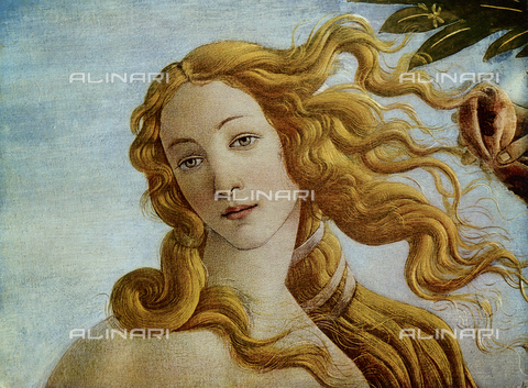 FDC-F-000929-0000 - The Birth of Venus, detail of the face of Venus, Galleria degli Uffizi, Florence