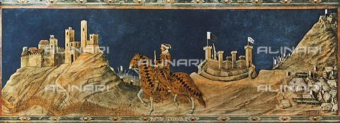 FDC-F-000946-0000 - Guidoriccio da Fogliano at the siege of Monte Massi; Sala del Mappamondo. Palazzo Pubblico, Siena