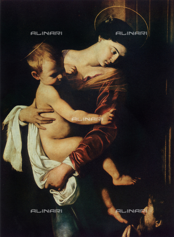 FDC-F-000965-0000 - The Madonna of Loreto, detail, Caravaggio, church of Sant'Agostino, Rome