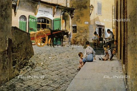 FDC-F-000993-0000 - Baker's workshop in Settignano; Telemaco Signorini