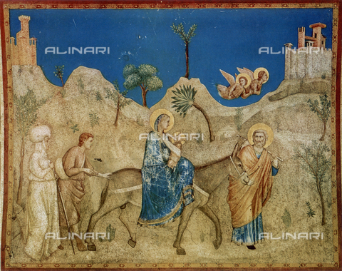 FDC-F-001048-0000 - Flight into Egypt; Lower Church of S. Francesco, Assisi