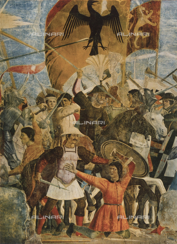 FDC-F-001066-0000 - Victory of Heraclius over the Persian King Chosroes, episode from the fresco cycle of the Legend of the True Cross, Choir, Church of San Francesco, Arezzo