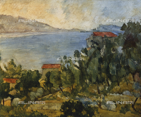 FDC-F-001092-0000 - L'Estaque; painting by Paul Cézanne, French Private Collection