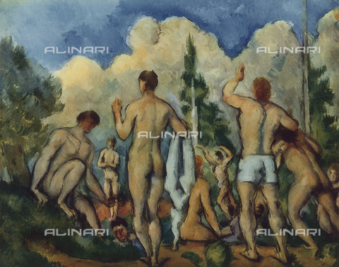 FDC-F-001094-0000 - The Bathers, c.1890-92, Cézanne, Paul (1839-1906)